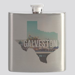 Galveston, Texas Flask