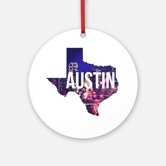 Cute Austin texas Round Ornament