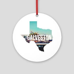 Galveston, Texas Round Ornament
