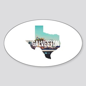 Galveston, Texas Sticker (Oval)