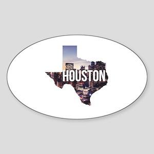 Houston, Texas Sticker (Oval)