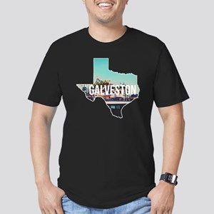 Galveston, Texas Men's Fitted T-Shirt (dark)