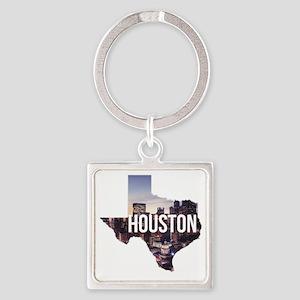Houston, Texas Square Keychain
