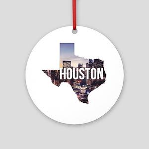 Houston, Texas Round Ornament