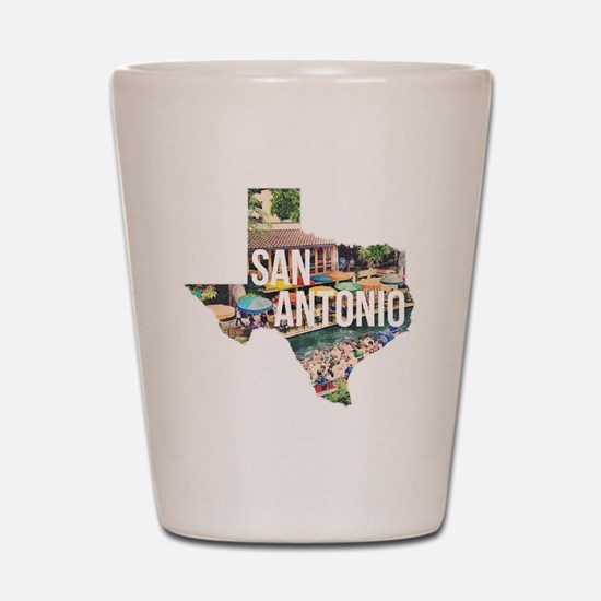 San Antonio Riverwalk, Texas Shot Glass