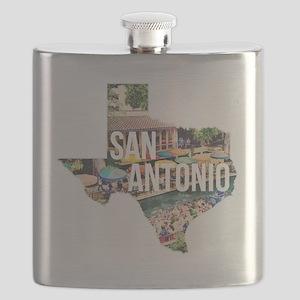 San Antonio Riverwalk, Texas Flask