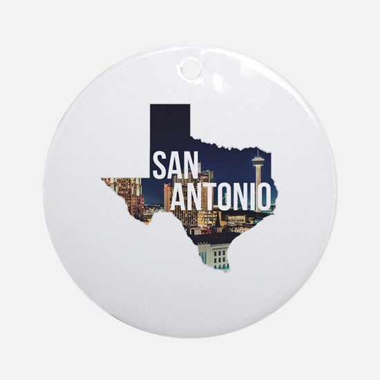 Cute San antonio Round Ornament