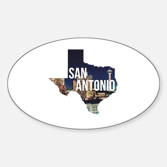 Unique San antonio Sticker (Oval)