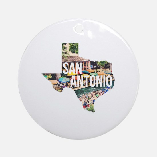 San Antonio Riverwalk, Texas Round Ornament