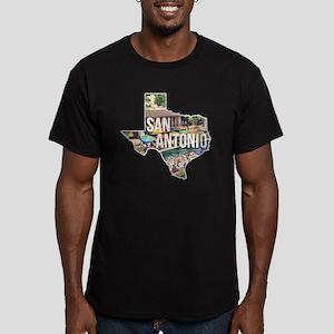 San Antonio Riverwalk, Men's Fitted T-Shirt (dark)