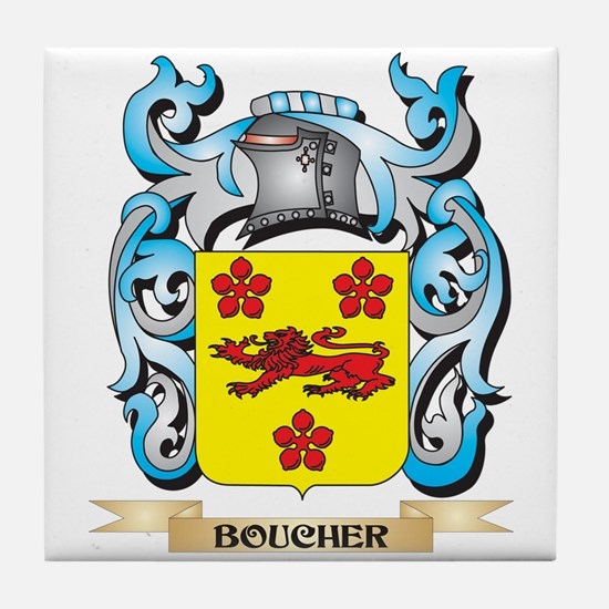 Boucher Coat of Arms - Family Crest Tile Coaster