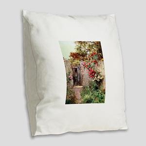 Near_Taormina_Italy_1918 Burlap Throw Pillow