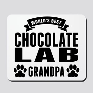 Worlds Best Chocolate Lab Grandpa Mousepad