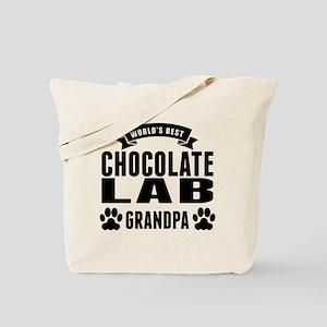 Worlds Best Chocolate Lab Grandpa Tote Bag