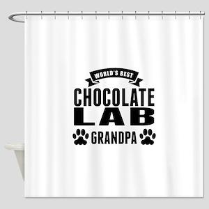 Worlds Best Chocolate Lab Grandpa Shower Curtain