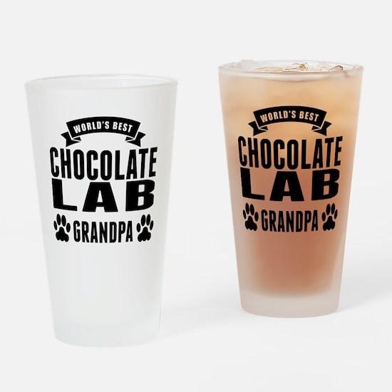 Worlds Best Chocolate Lab Grandpa Drinking Glass