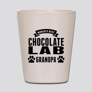 Worlds Best Chocolate Lab Grandpa Shot Glass