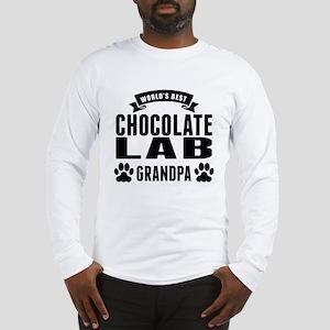 Worlds Best Chocolate Lab Grandpa Long Sleeve T-Sh