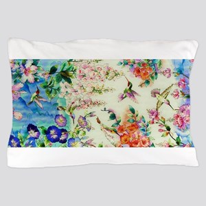 HUMMINGBIRD_STAINED_GLASS Pillow Case