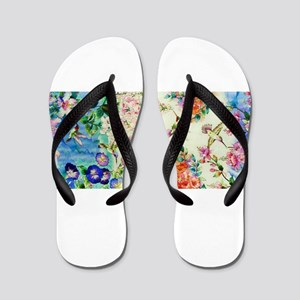 HUMMINGBIRD_STAINED_GLASS Flip Flops