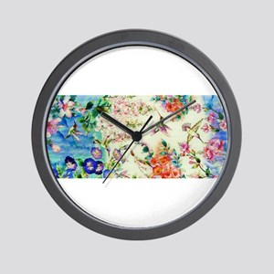 HUMMINGBIRD_STAINED_GLASS Wall Clock
