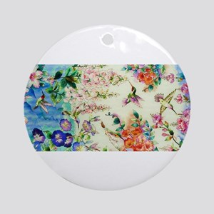 HUMMINGBIRD_STAINED_GLASS Ornament (Round)