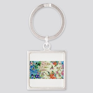 HUMMINGBIRD_STAINED_GLASS Keychains