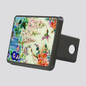 HUMMINGBIRD_STAINED_GLASS Rectangular Hitch Cover