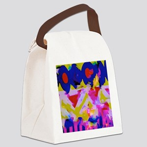 A Happy Place Canvas Lunch Bag