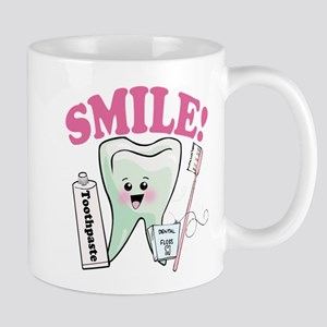 Smile Dentist Dental Hygiene Mugs