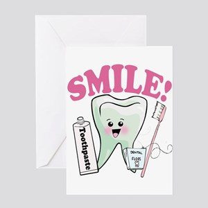 Smile Dentist Dental Hygiene Greeting Cards