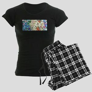 HUMMINGBIRD_STAINED_GLASS Women's Dark Pajamas