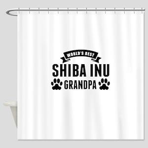 Worlds Best Shiba Inu Grandpa Shower Curtain