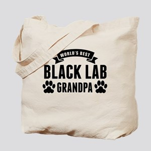 Worlds Best Black Lab Grandpa Tote Bag