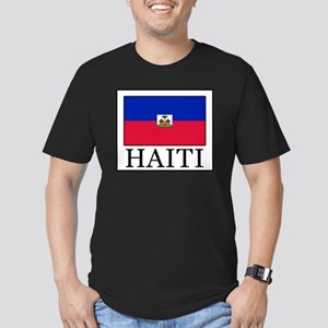 Haiti Men's Fitted T-Shirt (dark)