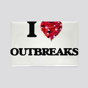 I Love Outbreaks Magnets