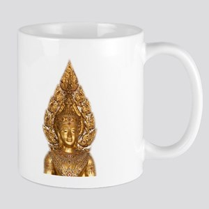 buddha in gold Mugs
