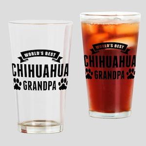 Worlds Best Chihuahua Grandpa Drinking Glass