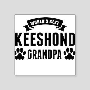Worlds Best Keeshond Grandpa Sticker