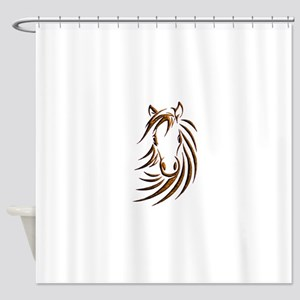 Brown Horse Head Shower Curtain
