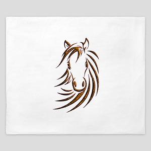 Brown Horse Head King Duvet