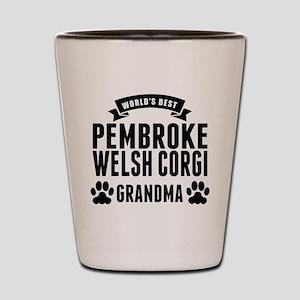 Worlds Best Pembroke Welsh Corgi Grandma Shot Glas