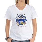 Espargosa Family Crest Women's V-Neck T-Shirt