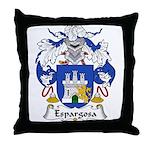 Espargosa Family Crest Throw Pillow