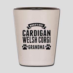 Worlds Best Cardigan Welsh Corgi Grandma Shot Glas