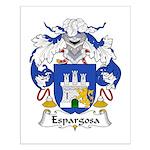 Espargosa Family Crest Small Poster