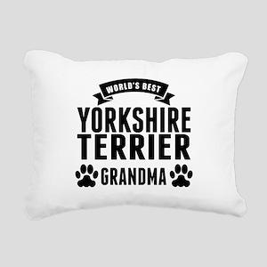 Worlds Best Yorkshire Terrier Grandma Rectangular