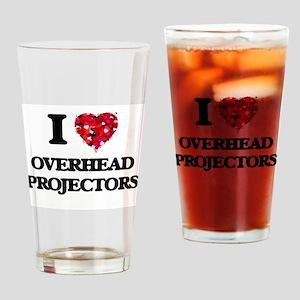 I Love Overhead Projectors Drinking Glass