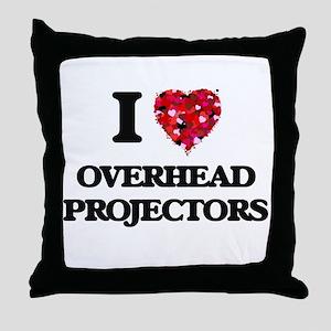 I Love Overhead Projectors Throw Pillow