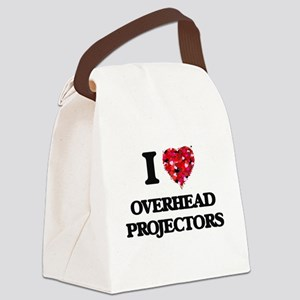 I Love Overhead Projectors Canvas Lunch Bag
